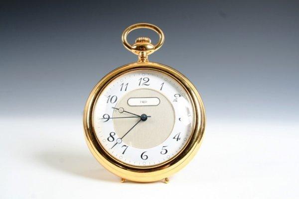 2002: Fred Of Paris Desk Clock Circa 1960