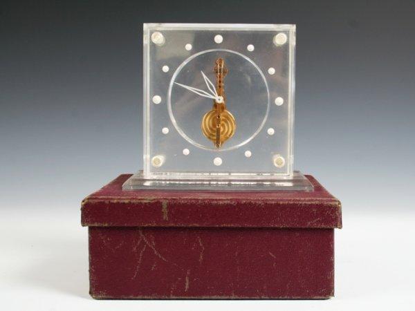 2012: Inline Le Coultre Lucite Mantle Clock 1960