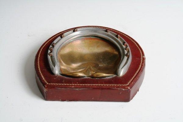 2025: Hermes Paris Bronze & Leather Ashtray 1920
