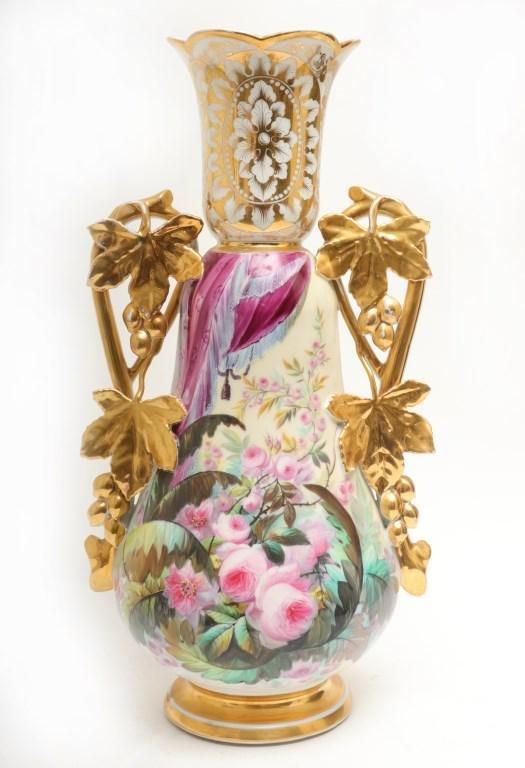 Aesthetic Movement Old Paris Style Porcelain Vase