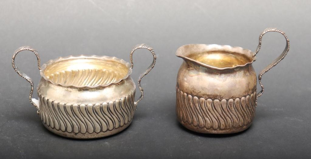 Gorham Sterling Silver Creamer & Sugar, 2 Pcs.