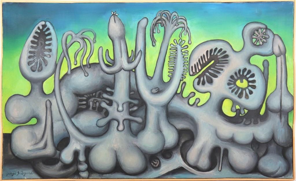 George Jay Rogers Mid-Century Surrealist Oil