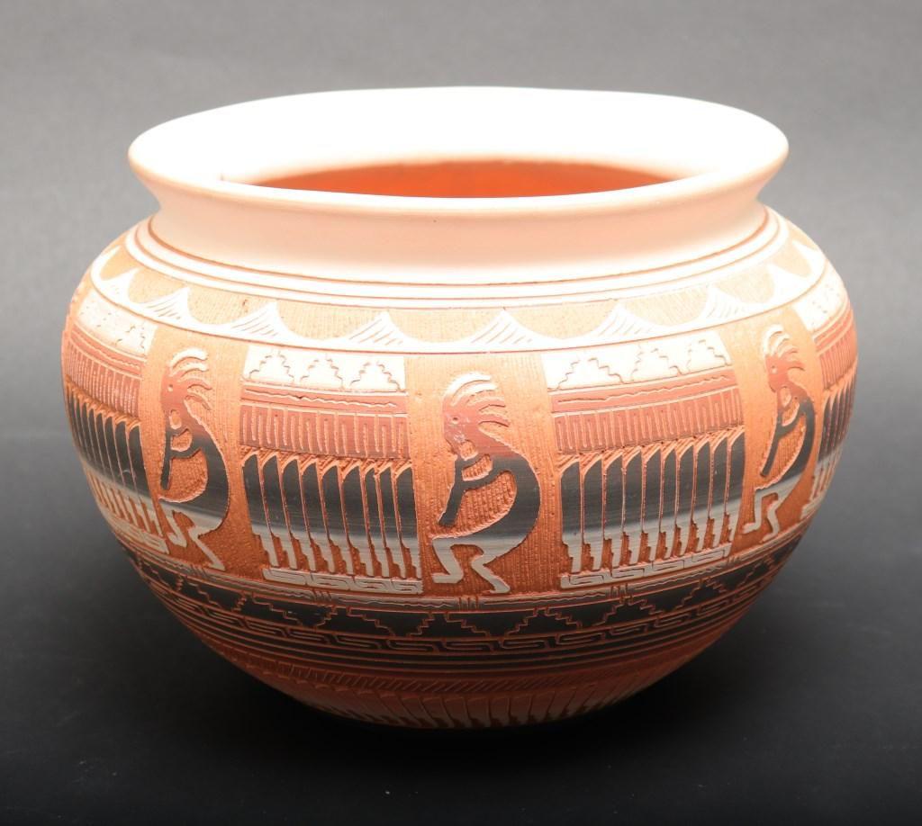 Hilda Whitegoat Navajo Native American Pottery Jar