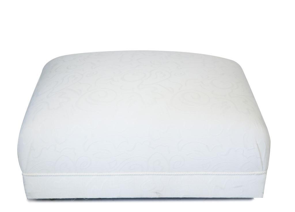 Billy Baldwin Manner White Upholstered Ottoman