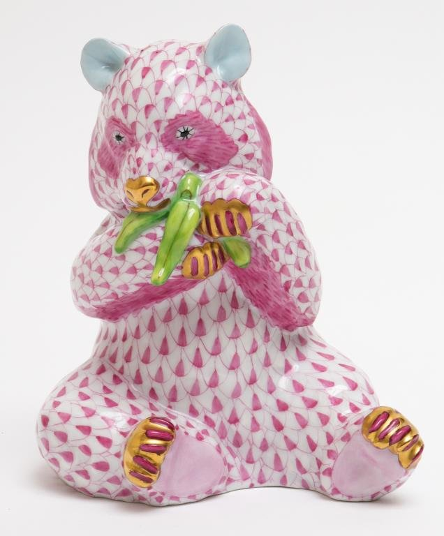 "Herend ""Panda"" Fishnet Porcelain Figure"