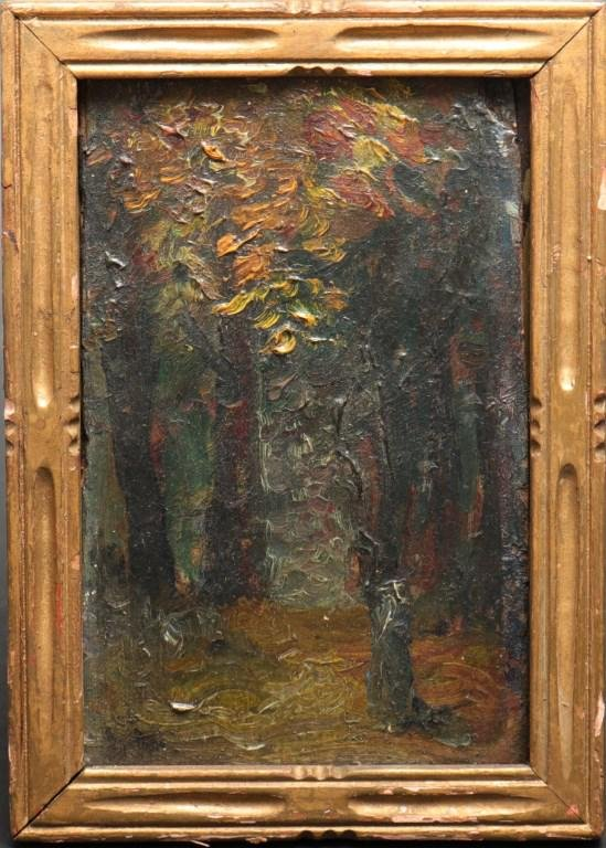"Van Dearing Perrine Attrib. ""Landscape Study"" Oil"