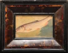 "Edwin Austin Abbey Attrib. ""Fish Study"" Watercolor"