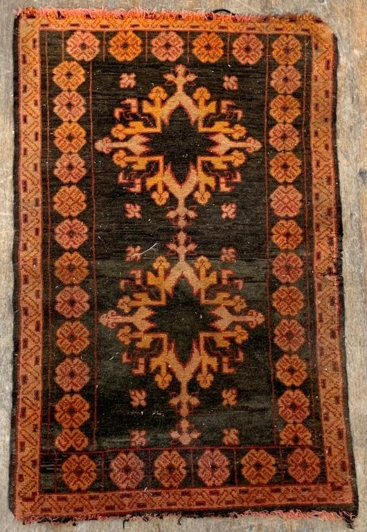 """Persian Stylized Floral Motif Rug 3' 1"""" x 2'"""