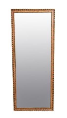 Large Vintage Painted Wood Mirror