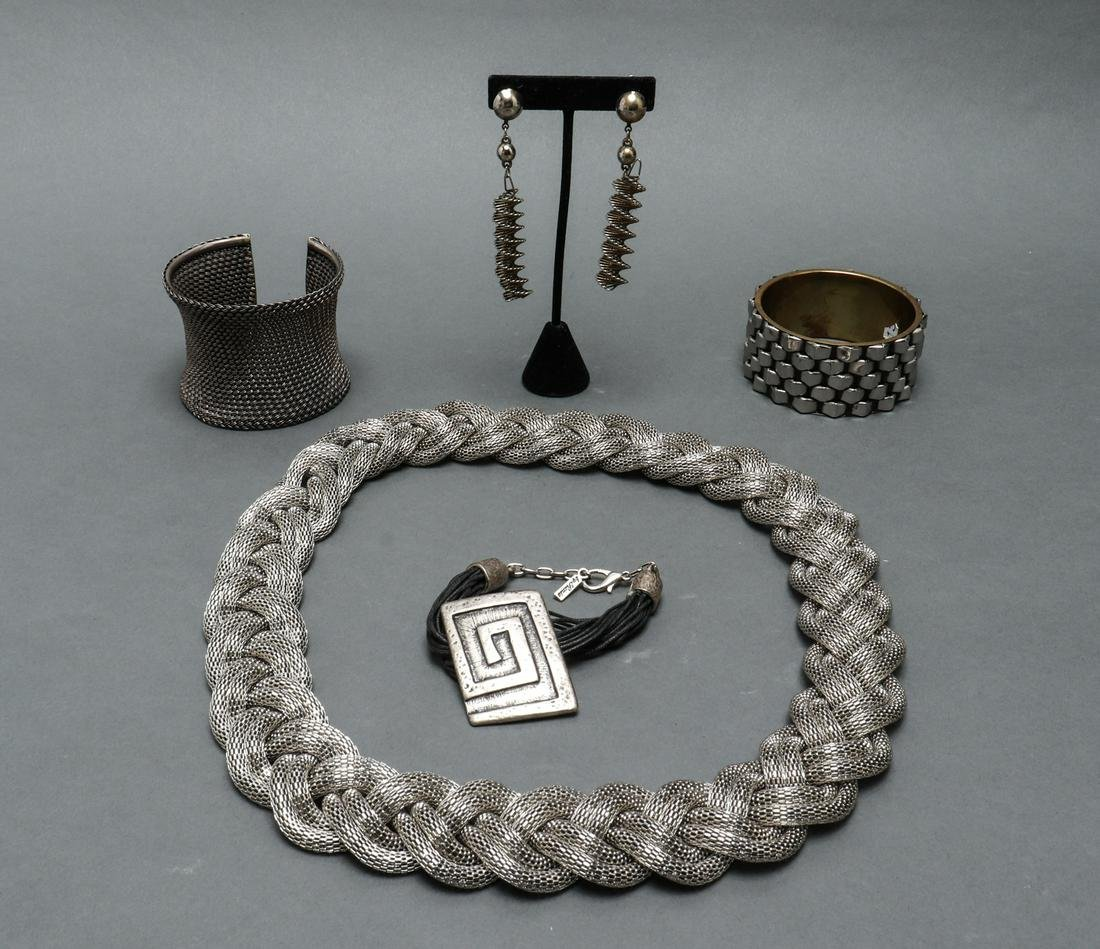 Modern Sterling & Silver-Tone Jewelry, 5 Pieces