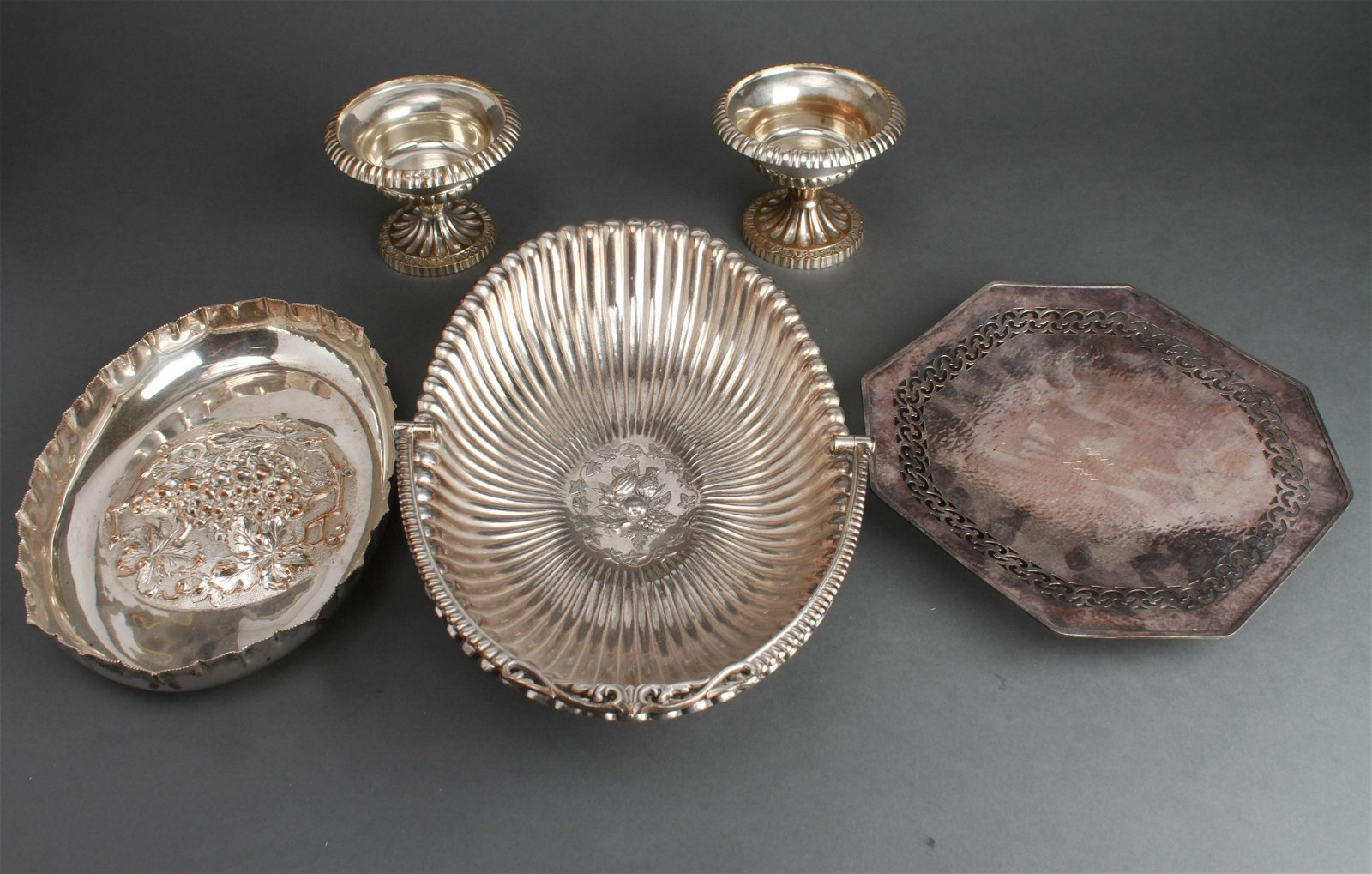 English Silver Plate Table Articles, 5