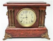 Seth Thomas Adamantine Veneered Mantle Clock