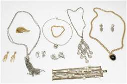 Gold & Silver-Tone Metal Costume Jewelry, 11 Pcs