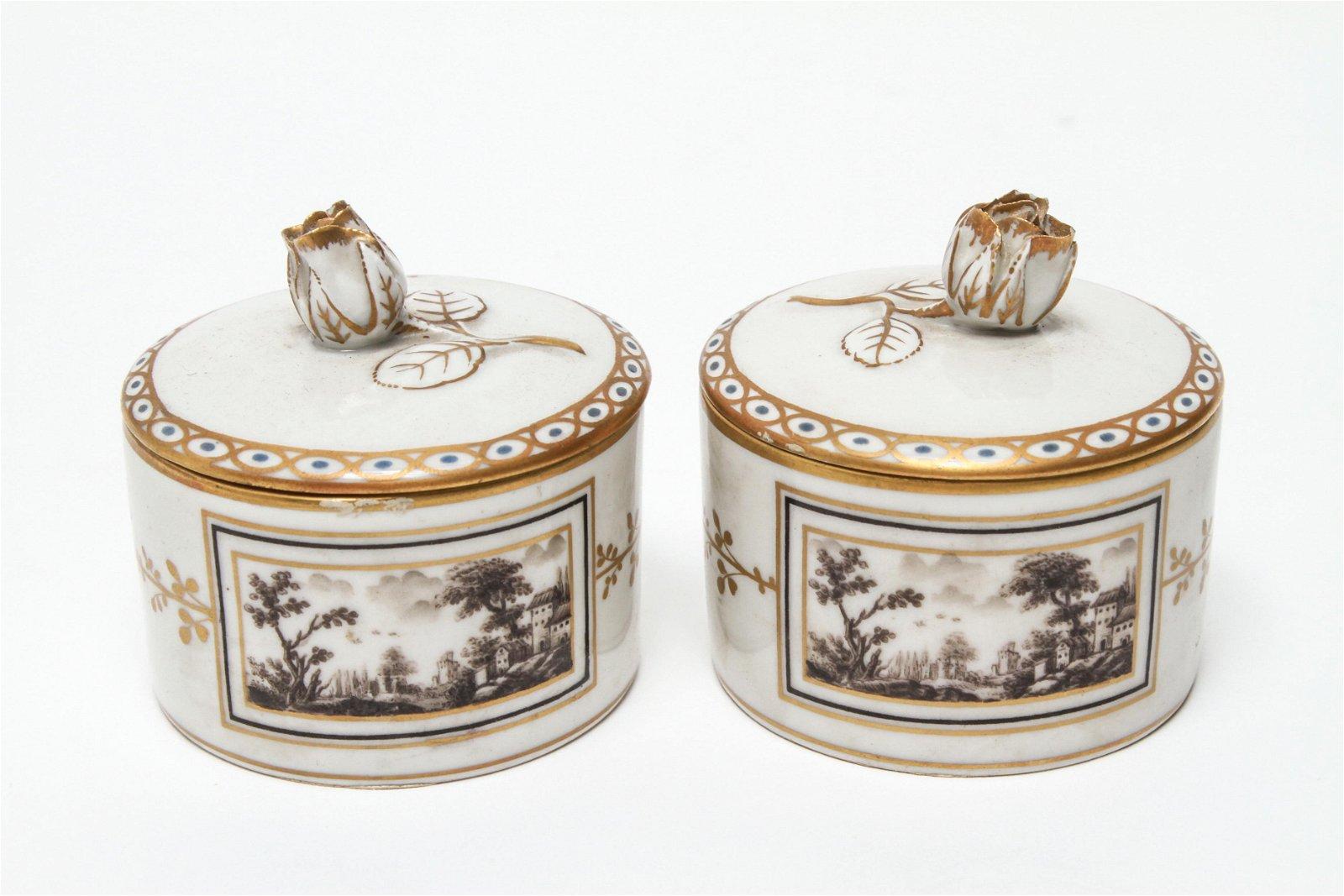 Richard Genori Rose Lidded Porcelain Boxes Group 2