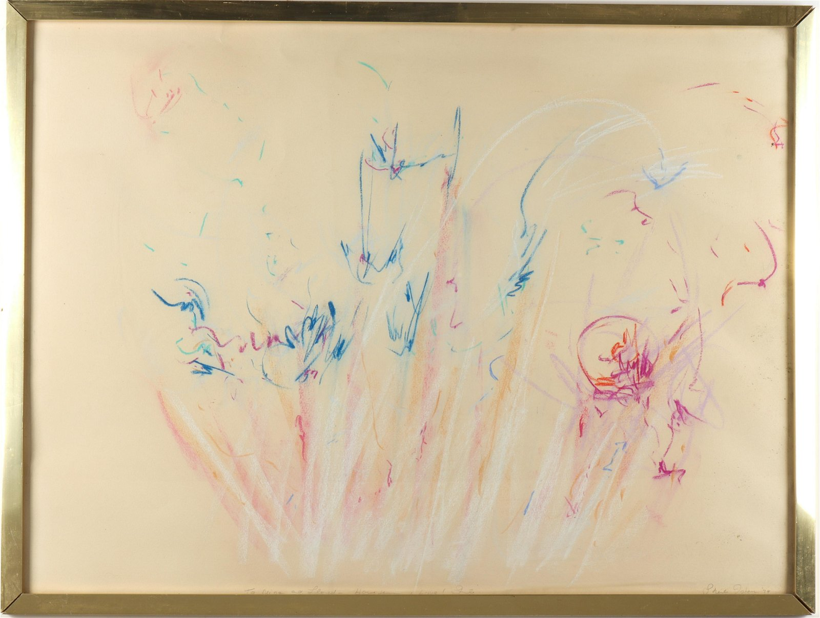 Sheila Isham Abstract Pastel on Paper