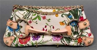 Gucci Flora Horsebit Clutch