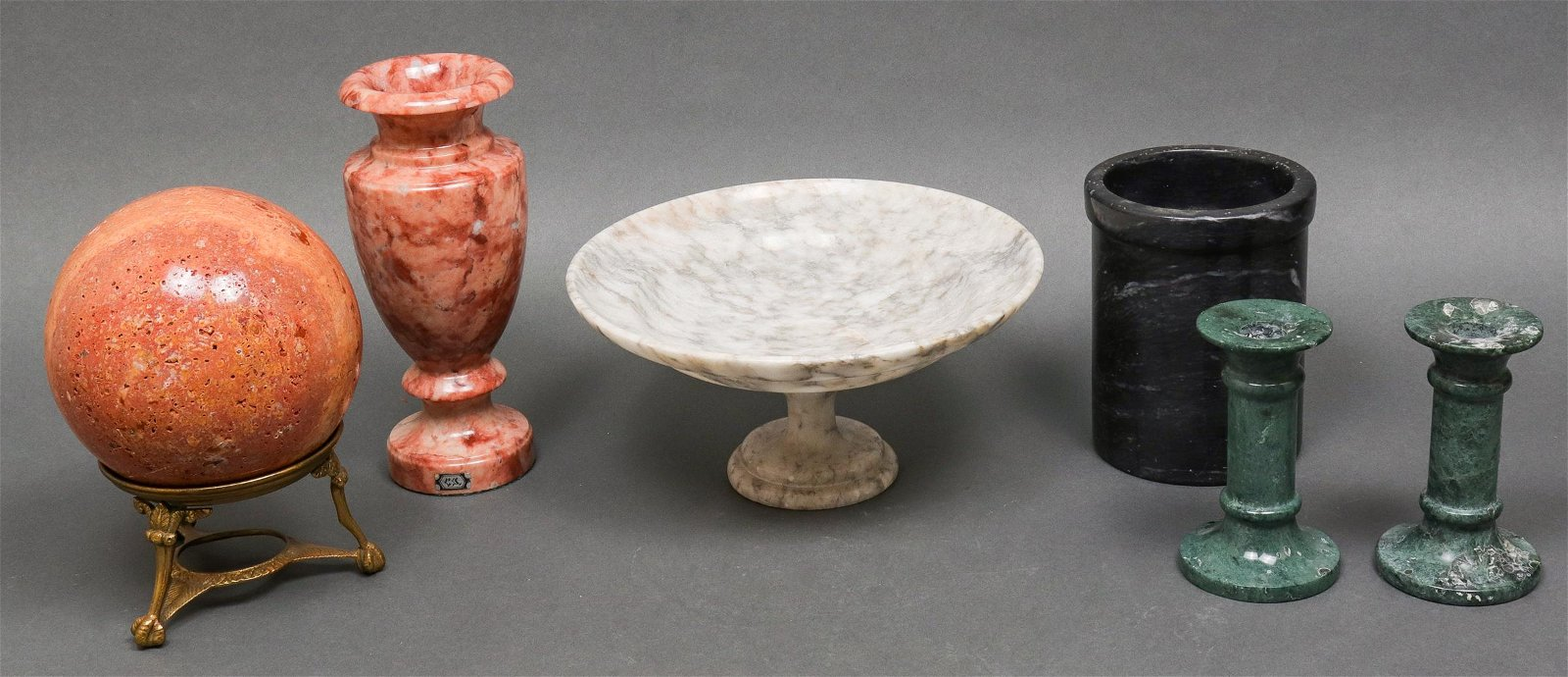 Collection of Marble Decorative Articles, 6 Pc