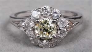 Edwardian Style 14K White Gold Diamond Ring