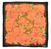Hermes Les Pivoines Silk Scarf