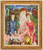 "Darrel Austin ""Family Portrait"" Oil on Canvas"
