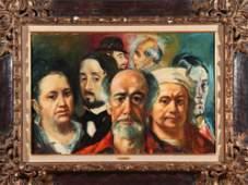 "Jan de Ruth ""Group Portraits"" Oil on Canvas"