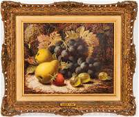 "Oliver Clare ""Still Life with Fruit"" Oil on Canvas"