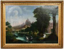 After Thomas Cole Voyage of Life Oil on Canvas