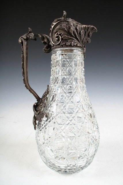 5: Russian Crystal-and-Silver Bolin Pitcher