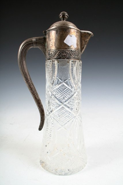 6: Russian Crystal-and-Silver Pitcher