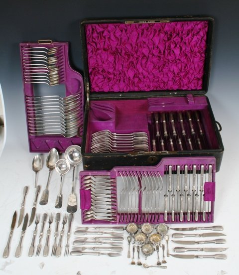 11: 121-Piece Austrian Silver Set 18th C