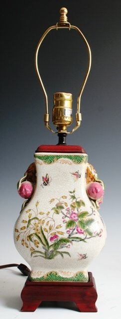 22: Chinese Famille Rose Table Lamp c 1930