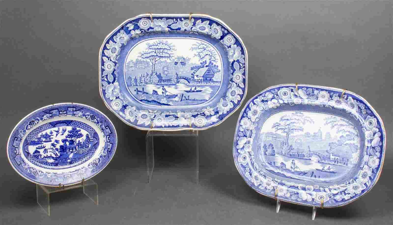 Staffordshire, Wedgwood Transferware Platters, 3