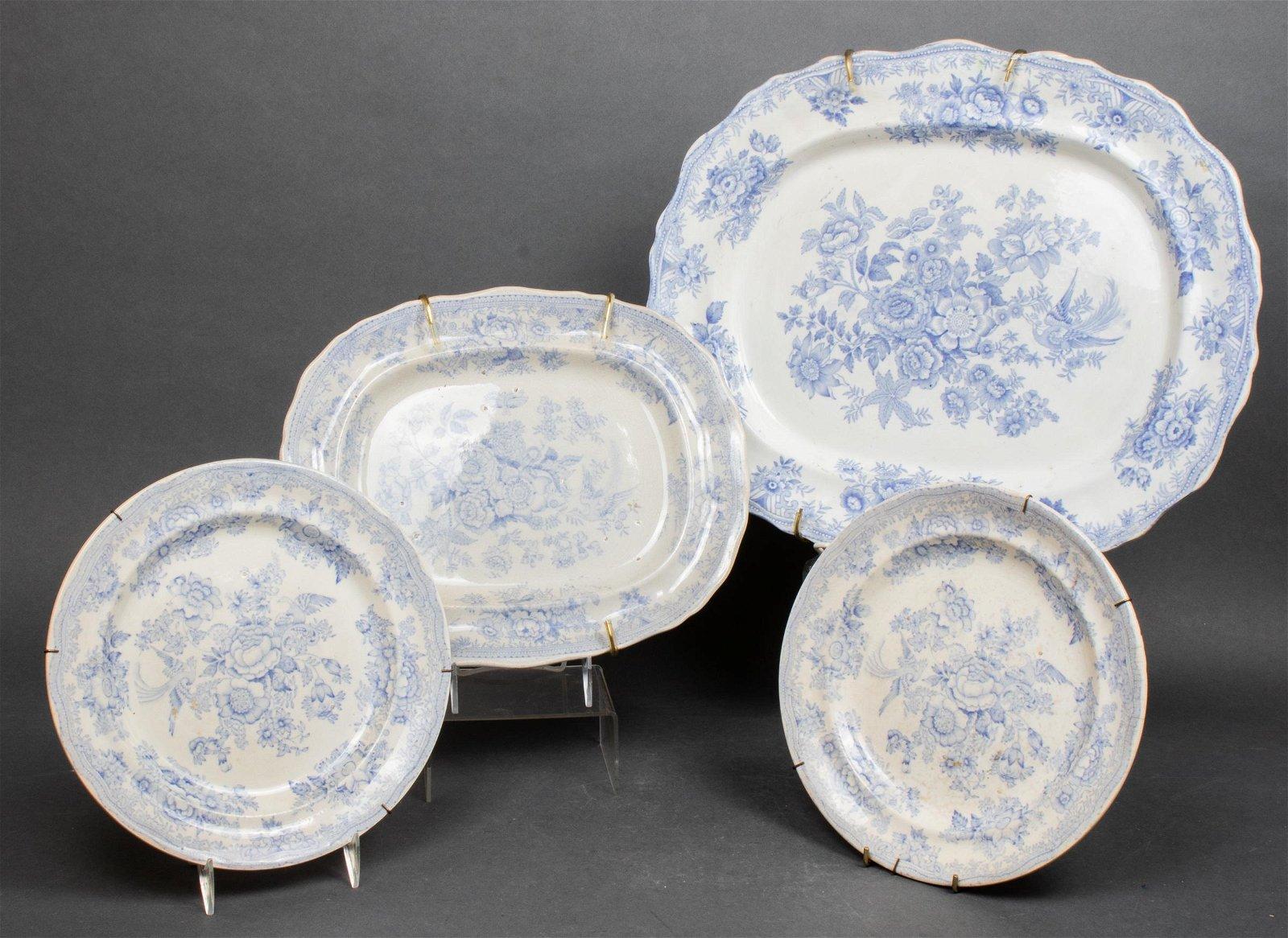 English Asiatic Pheasant Transferware Plates, 4