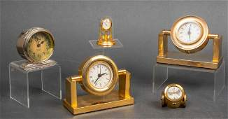 Arnex Cannon Clock & Other Misc. Desk Clocks, 5