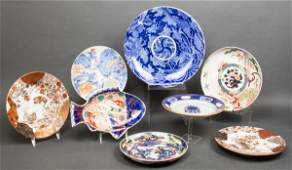 Assorted Asian Ceramic Plates, Group of 8