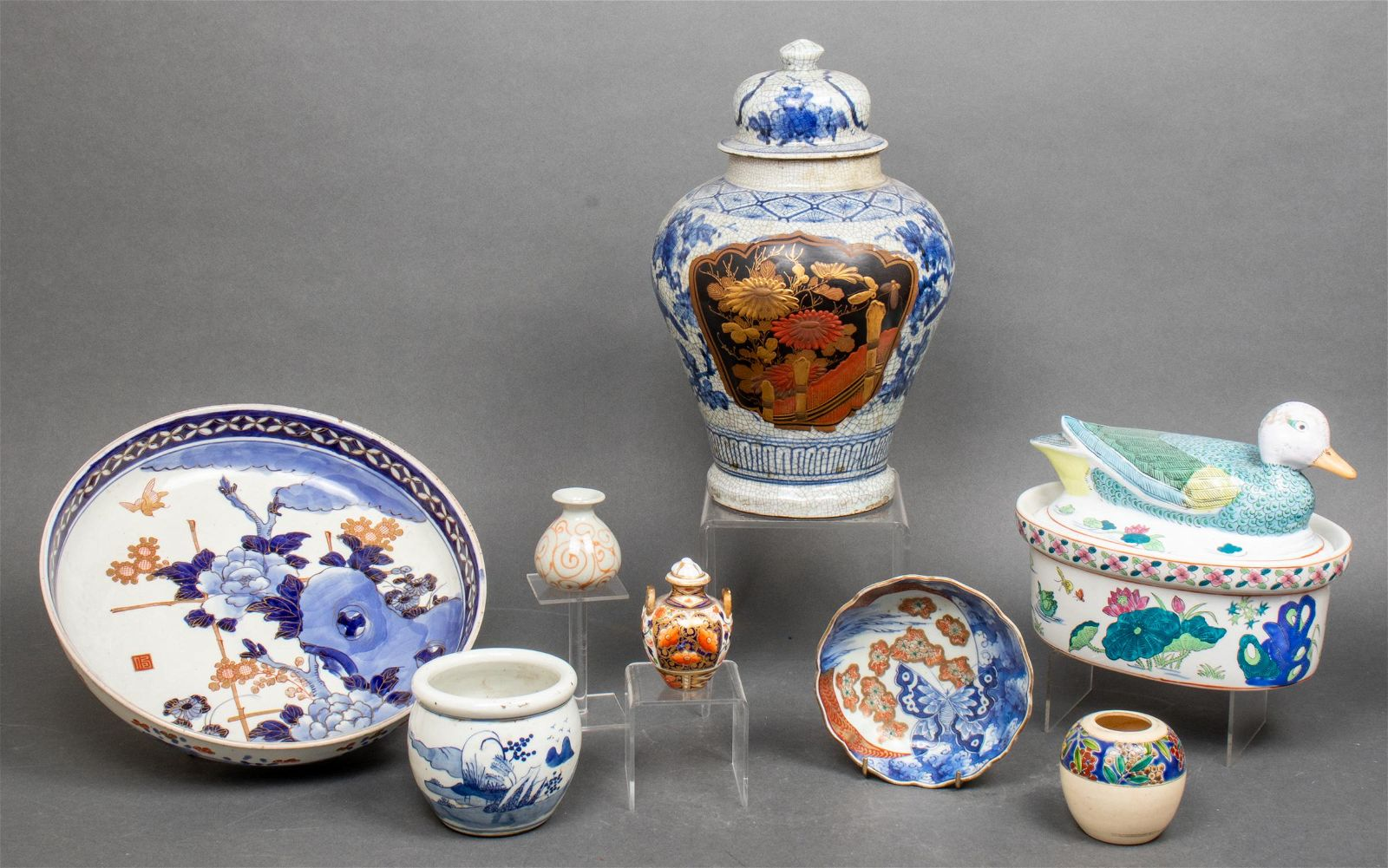 Assorted Asian Ceramic Vessels, Group of 8