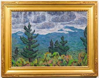Allen Tucker Post-Impressionist Oil on Canvas