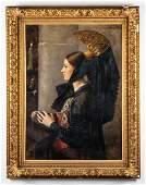 Jacqueline Comerre-Paton Portrait Oil on Canvas