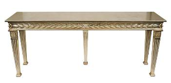 Italian Neoclassical Manner Silver-Gilt Console