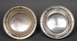Reed  Barton Sterling Silver Footed Bowls Pair