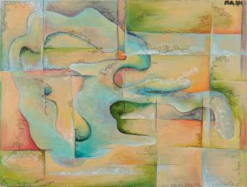 Daphna Lahav Abstracted Landscape Oil on Canvas