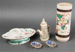 Asian Ceramic & Bone Assorted Pieces, 5