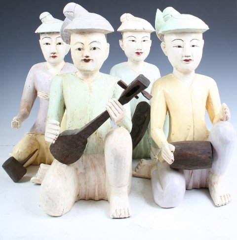 3: Set of 4 Figures of Musicians, Korea c. 19th C