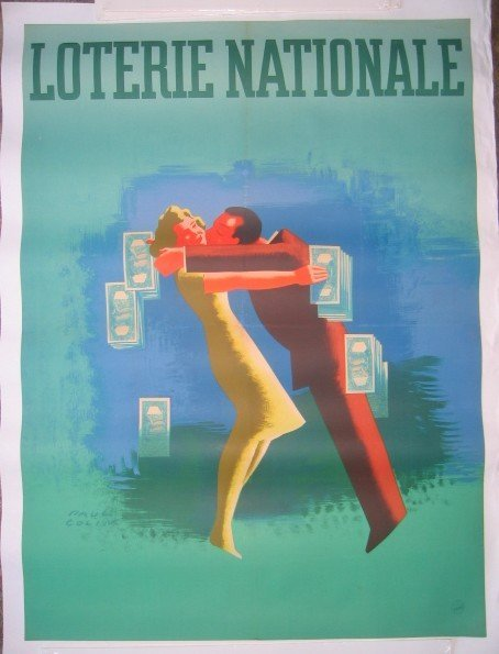 14: Rare Paul Colin Loterie Nationale Poster 1948
