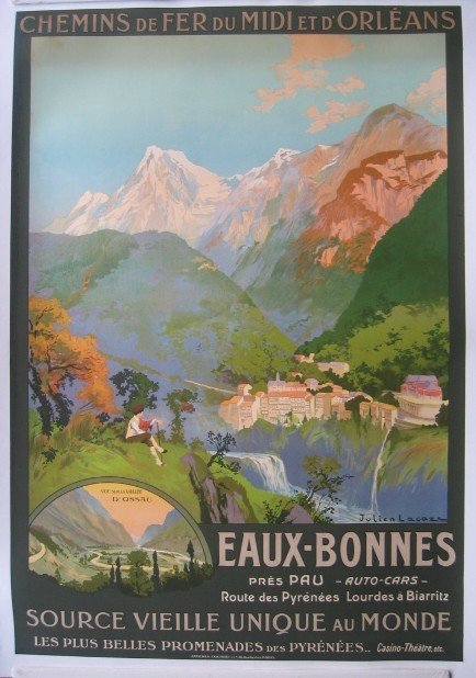 19: Eaux-Bonnes French Travel Poster by LaCaze