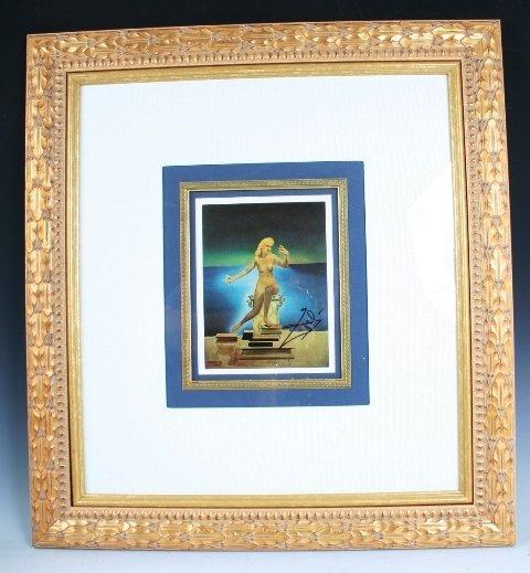 114: Salvador Dali Signature with Print