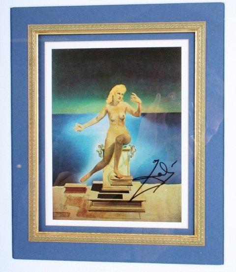 114: Salvador Dali Signature with Print - 2