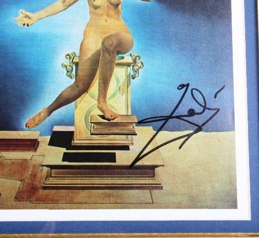 114: Salvador Dali Signature with Print - 3