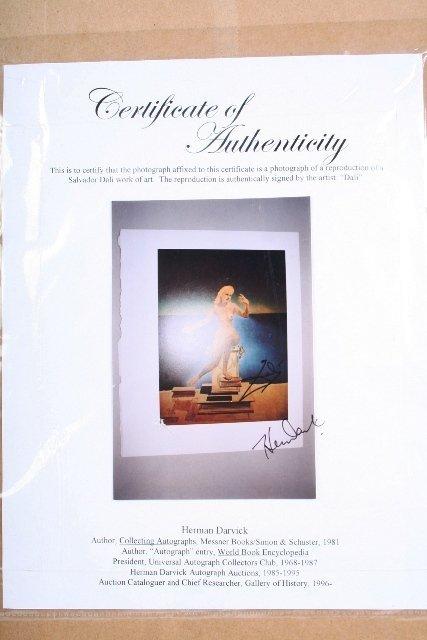 114: Salvador Dali Signature with Print - 5