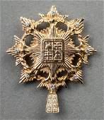 Vintage 14K Yellow Gold Diamond Shield Pendant/Pin
